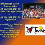 Tenniscamps in den Sommerferien